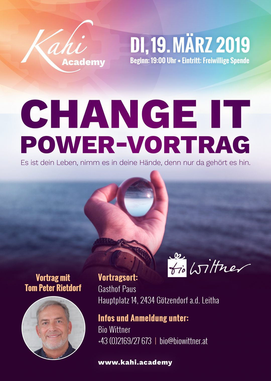 Di, 19. März 2019 – Vortrag: Change it – Powervortrag