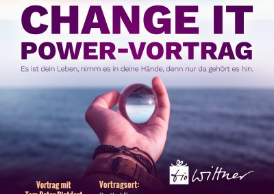Di, 19. März 2019 – Vortrag: Change it – Powervortrag