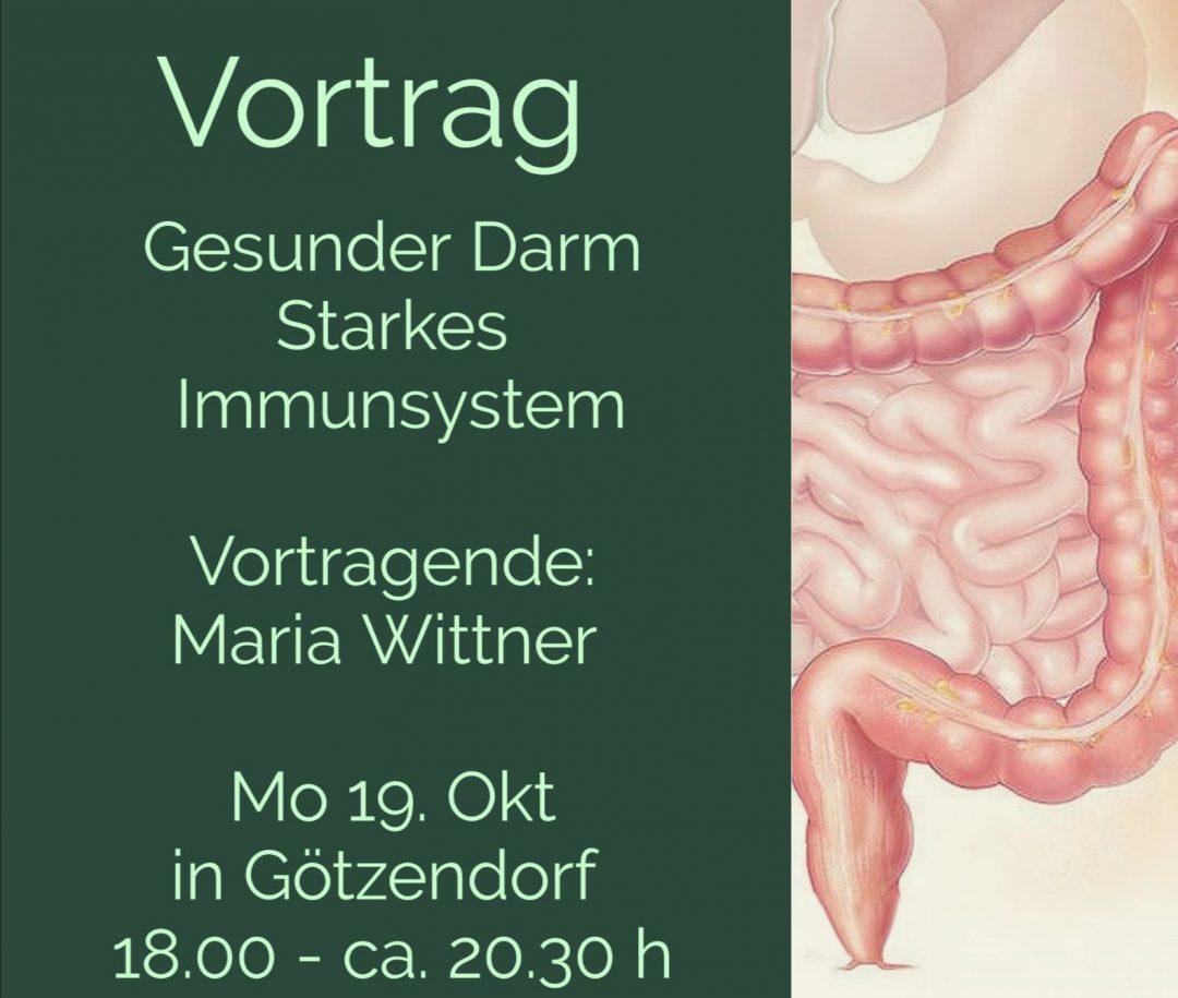 Vortrag 19. 10. 20: Gesunder Darm – starkes Immunsystem! VERSCHOBEN!!!