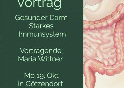 Vortrag 19. 10. 20: Gesunder Darm – starkes Immunsystem!