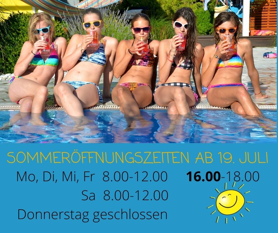 Sommeröffnungszeiten!!!